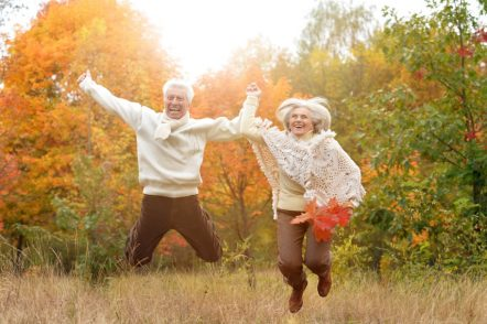 Happy and Healthy Elderly Couple