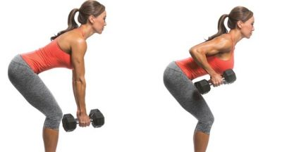 Bent over dumbell row