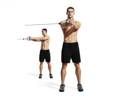 Cable torso rotation