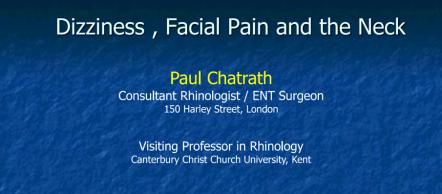 9th Annual Spinal Symposium - Paul Chatrath